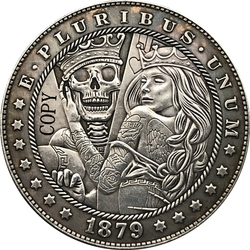 Хобо никель 1879-CC сша Морган доллар Монета КОПИЯ типа 187