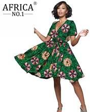 2021 в африканском стиле; Вечерние платье для women100 % хлопок