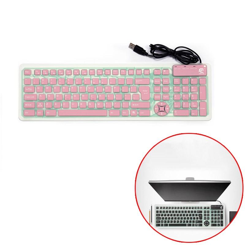Складная клавиатура Бесшумная водонепроницаемая и пылезащитная usb офисная Проводная клавиатура Бесшумная клавиатура для мобильного