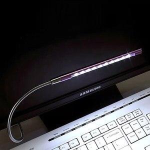 USB Led Computer Light Mini Metal Flexible Table Lamps Desk Bed Beside Reading PC Power Bank Laptop Keyboard Book Night Lighting(China)