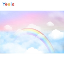 Yeele Baby Shower Photocall Rainbow Birdge Newborn Photography Backdrops Personalized Photographic Backgrounds For Photo Studio