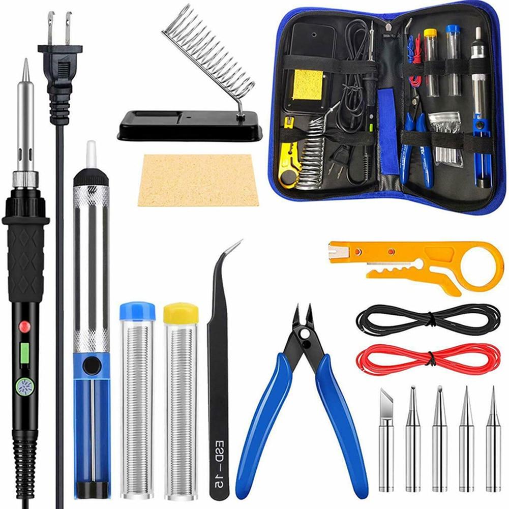 Регулируемый температурный Электрический паяльник набор инструментов для сварки для проводки домашнего ремонта ювелирных изделий