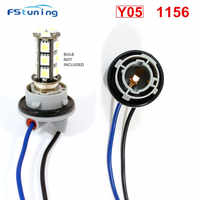 Conector de cable para arnés de luz de freno, bombilla LED T20 T25 3157 3156, BA15S P21W 1157 P21/5W, porta adaptador de bombilla, 2 uds.