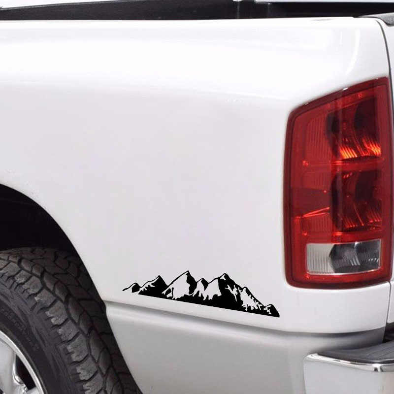 Aliauto para ser absorvido montanha muito bonito vinil adesivo de carro vívido impermeável reflexivo decalque preto/prata, 16cm * 4cm