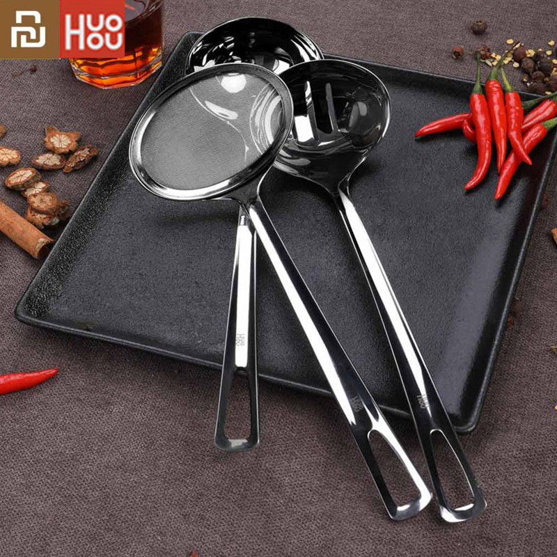 Youpin mijia Huohou Stainless Steel Spoon Smooth Feel Hot Disinfection Hot Pot Tool Suitable for xiaomi Kitchen Smart Home