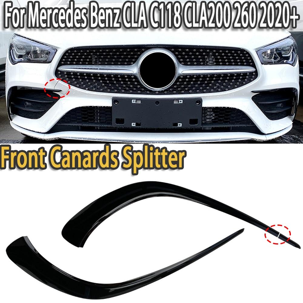 K-car avant pare-chocs séparateur becquet et ailes garniture Canards pour Mercedes Benz CLA C118 CLA200 260 2020 +