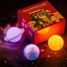 novedades 2020 3D Printed Lamp Planetary Lights Galaxy Night