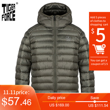 TIGER FORCE 2020 New Men's Winter Jacket Casual High-quality cotton brand clothing clothing