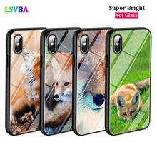 Black Cover Animal Fox Fashion for iPhone X XR XS Max for iPhone 8 7 6 6S Plus 5S 5 SE Super Bright Glossy Phone Case black cover japanese samurai for iphone x xr xs max for iphone 8 7 6 6s plus 5s 5 se super bright glossy phone case