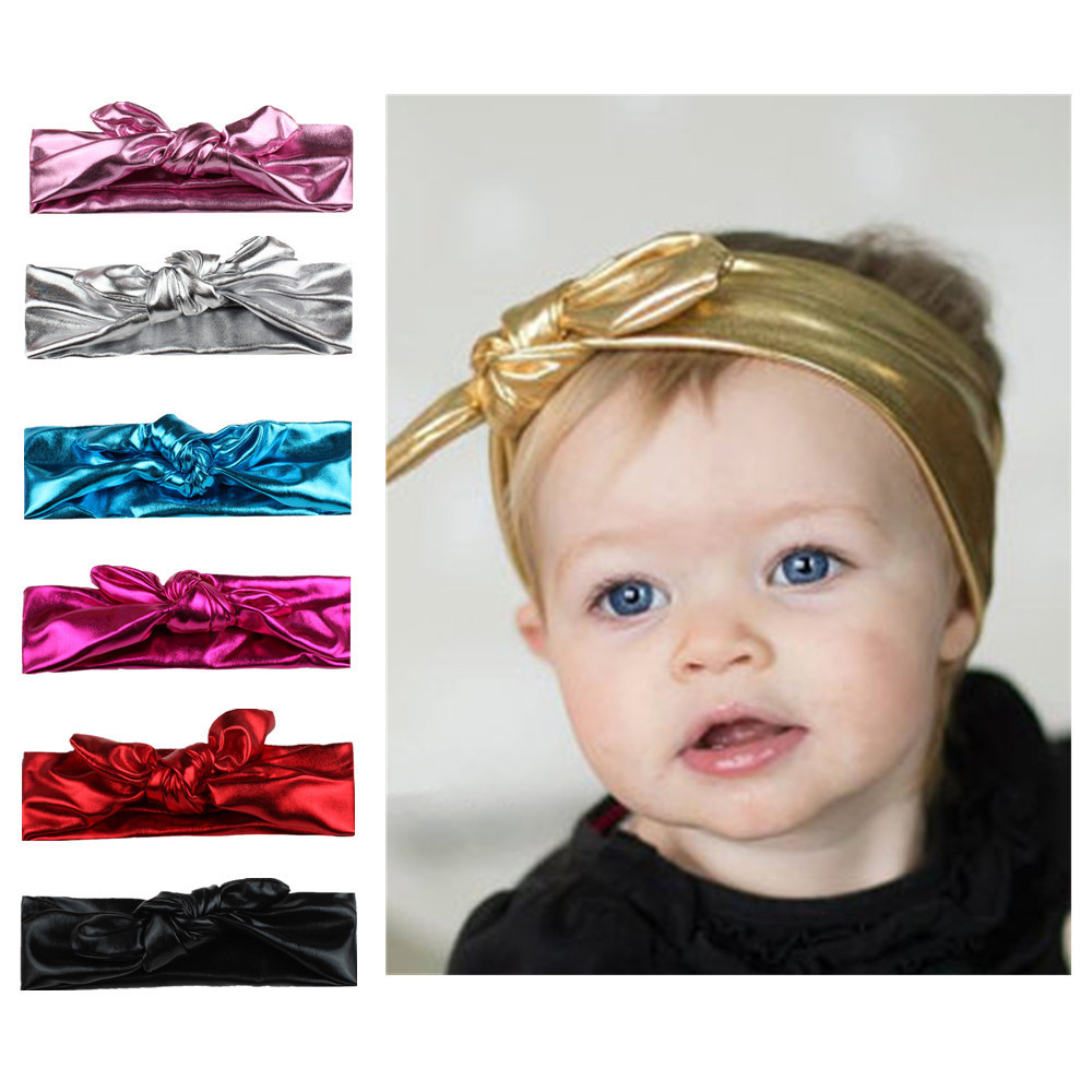 Girl Kids Baby Toddler Infant Turban Knot Rabbit Headband Bow Hairband Head Band