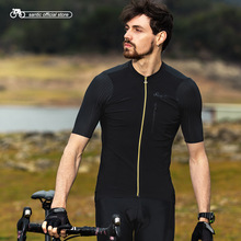Short Jersey Santic Road-Bike-Pro Italian Fit MTB Men M8C02132 Fabric-Cuffs Asian-Size