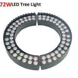 72W drzewo Led światło kolorowe zewnętrzny projektor oświetleniowy wodoodporna ogród drzewo oświetlenie 36W * 2 projekcji lampa kolumnowa AC85 265V DC12V /24V w Reflektory od Lampy i oświetlenie na