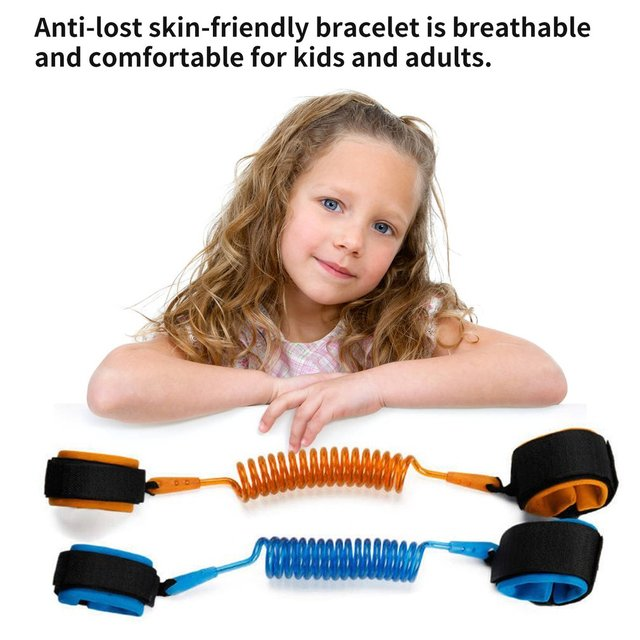 1.5m Adjustable Children Kids Safety Anti-lost Wrist Link Band Bracelet Wristband Secure For Baby Harness Strap Rope Leash 5