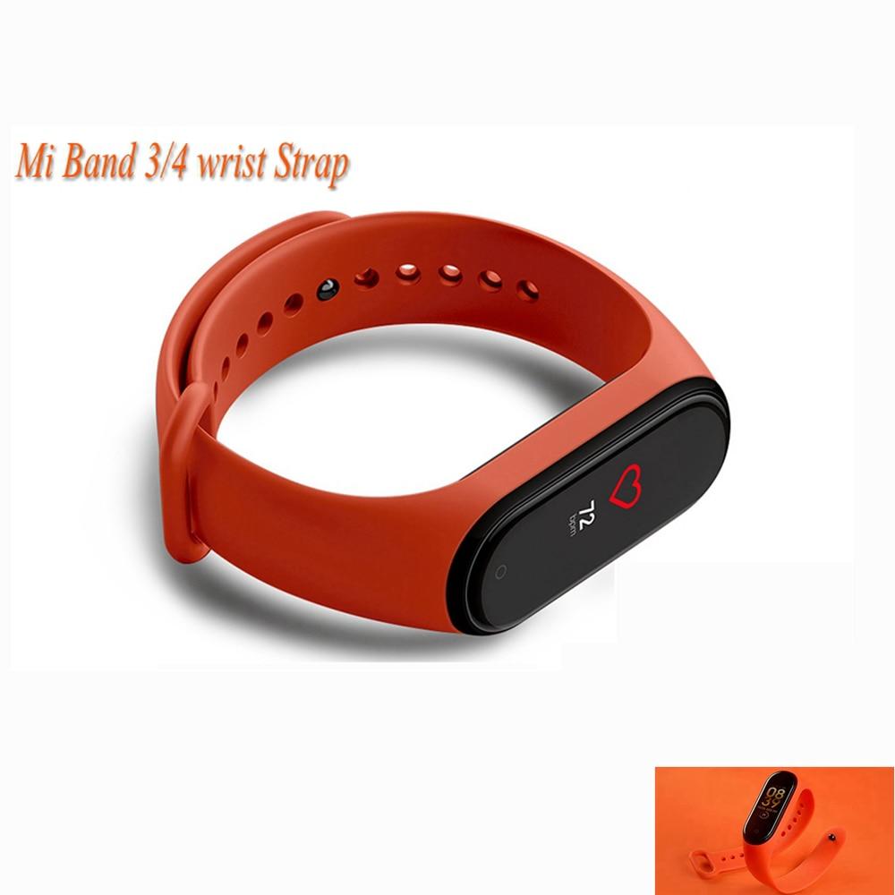 Pulseira de Silicone Pulseira Para Mi Banda 3/4 Pulseira de Silicone Pulseira Pulseira de Acessórios para Mi band4 Miband4 Wrist Straps