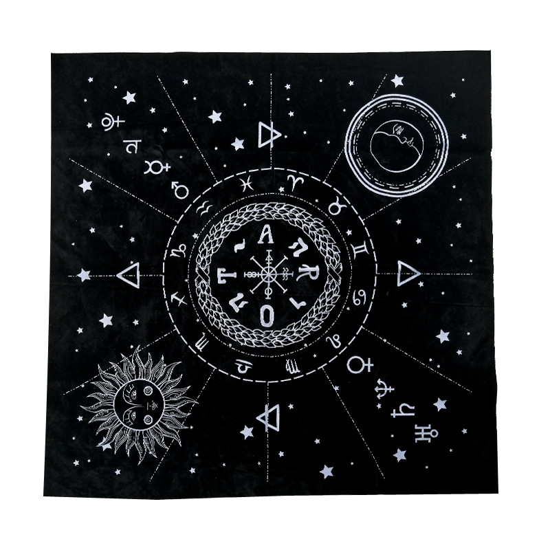 High quality Tarot special tablecloth 1pc  Astrology divination tarot cloth 49*49 cm