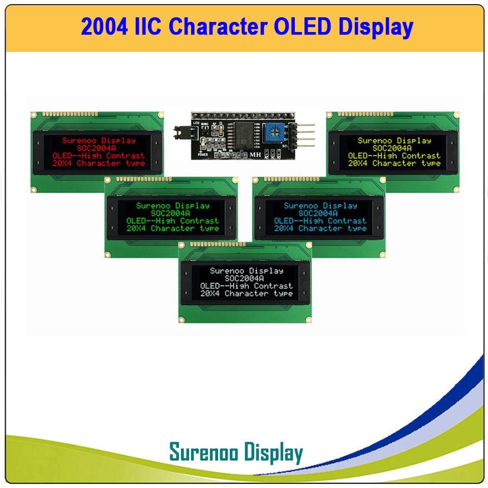 Real OLED Display, IIC/I2C/TWI 2004 204 20*4 Serial Character LCD Module Display Screen LCM