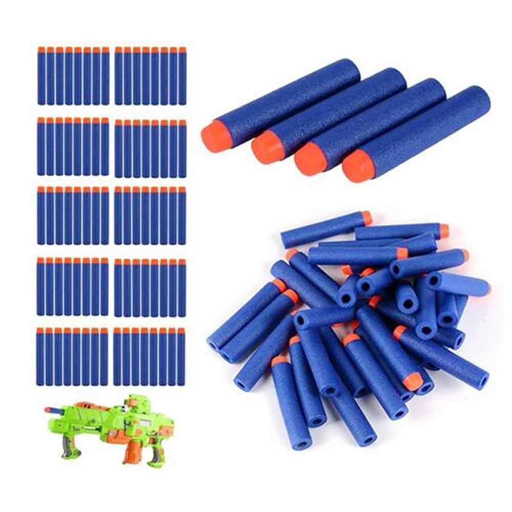 10-50 Uds. Para balas de pistolas de juguete suaves cabeza redonda orificio de aire bala de espuma 7,2 cm para juguetes infantiles oferta de juegos de entretenimiento familiar
