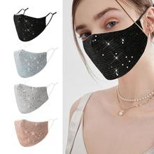 Face-Mask Activity Anti-Fog Washable 2-FILTERS Women Fashion with for Party Outdoor Bling