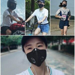 Image 5 - ROCKBROS maska rowerowa z filtrem PM2.5, przeciwmgielna, oddychająca, pyłoszczelna, kurz, respirator, sport, ochrona, przeciw kropelkom