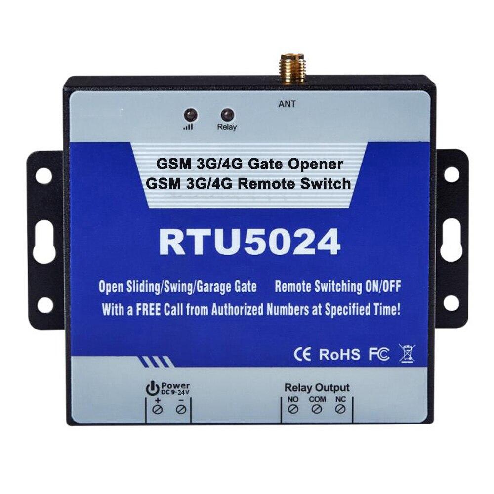 3G 4G GSM acceso a puerta Control remoto por llamada telefónica sistemas de alarma de Casa seguridad para el abrelatas automático RTU5024