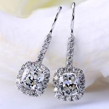 Solid S925 Sliver Garnet Diamond Earring for Women Luxury Blue Sapphire and Ruby Topaz Jewelry Gemstone Diamond Stud Earrings