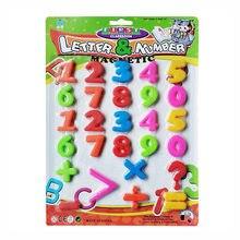 Novos brinquedos do bebê crianças números educativos vara letras no brinquedo frigorífico 26 pçs cor doces frete grátis