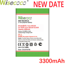 Wisecoco Ixion MS150 3300mAh Newly Produced Battery For DEXP MS 150 GLIDER Phone Replace + Tracking Number