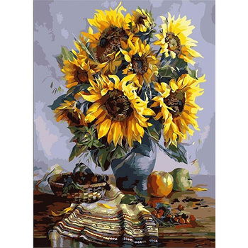 Sunflower DIY Oil Painting By Numbers Kits Drawing Canvas HandPainted Wall Art Pictures Coloring By Numbers Modern Home Decor