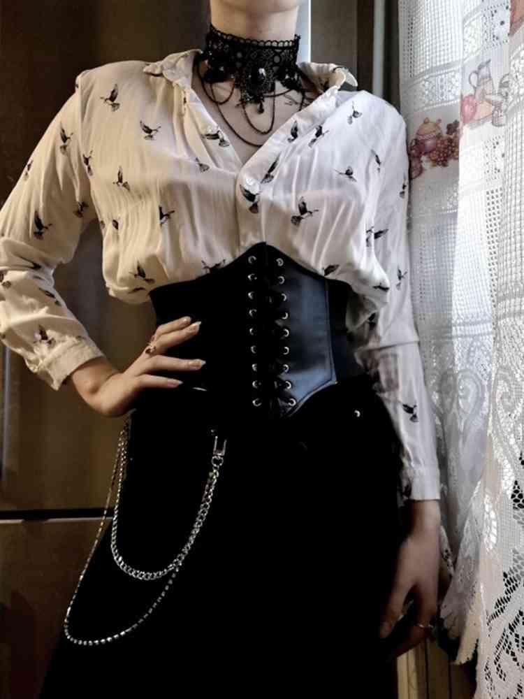 Wide-Belts Corset Fajas Ceinture Elastic Slimming Women Cinto Pu for Sobretudo Feminin