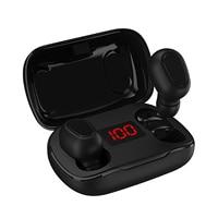 Auricolari TWS Bluetooth 5.0 cuffie Wireless vere cuffie sportive auricolari In-ear resistenti al sudore con custodia di ricarica per microfono 300mAh