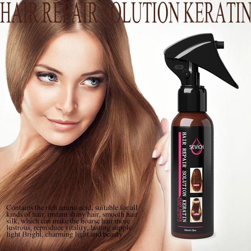 100ml Smoothing Spray To Repair Dyeing Ironing Damaged Hair Care Essential Oil Prevents Frizz And Makes Hair Silk Shine 4