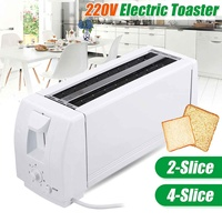 Electric Toaster Oven Household Electric Automatic Bread Baking Maker Breakfast Machine Toast Sandwich Grill Oven 2/4 Slices