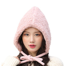 Sweet  Lovely Korean Earmuffs Hat Boys Girls Knitted Beanie lambswool Women Child Parent-Child Winter