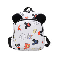 Kindergarten School Backpack Boy Girls Bag Baby Cute Cartoon Mickey Minnie Plush Backpack
