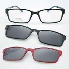 B-Ultem Ultra-lighBt Tungsten Titanium eyeglass Frame 3D Magnet Clip Su