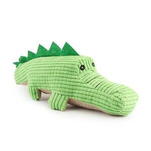 Image 4 - Krokodyl zabawki dla psów pluszowy miękki kot piszcząca zabawka zabawka dla zwierząt interaktywne ugryzienie zabawki dźwiękowe Chihuahua zabawki dla szczeniąt
