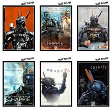 Chappie Classic Movie White Kraft Paper Painting Art Print Poster Wall Picture For Home Decor 42X30cm scroll painting harry potter poster diagon alley kraft paper wall art painting movie posters home decor wall sticker