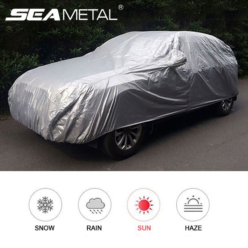 Car Cover Outdoor Protection Full Car Covers Rain Cover Waterproof Sunshade Dust-proof Exterior Cover for Hatchback Sedan SUV
