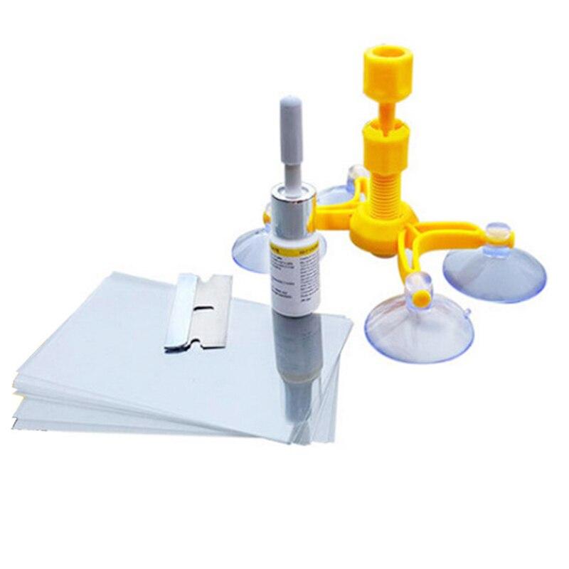 Набор для ремонта ветрового стекла, инструмент для быстрой фиксации треснувшего стекла и ветрового стекла, полимерный герметик «сделай сам...