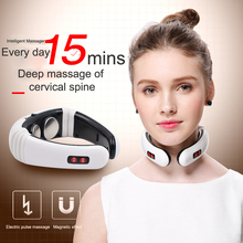 Electric Pulse Neck and Back 6 Mode Control Far Infrared Heating Massage Acupuncture Magnetic Therapy Pain Relief Patch Tool недорого