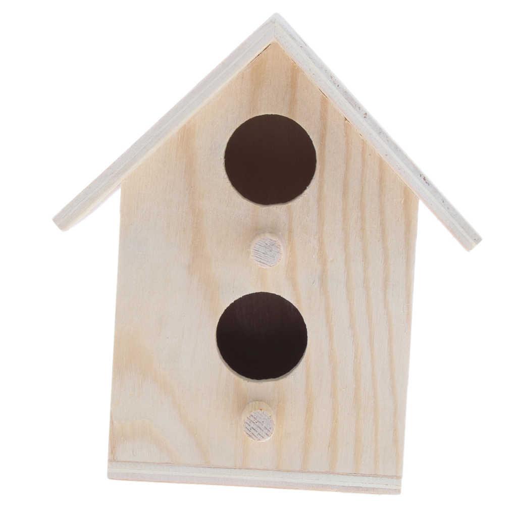 Cabane à oiseaux en bois brut | Cage à oiseaux, cabane à oiseaux