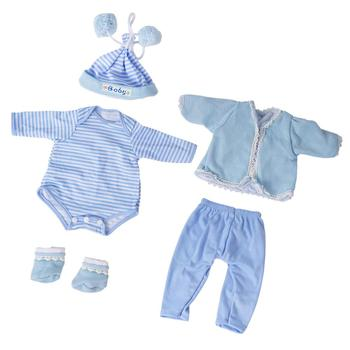 Reborn Baby Doll Accessories Outfits Clothes Set for 55 60cm Newborn Boy Cute Cartoon Printed