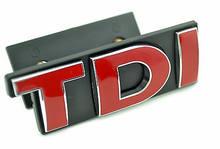 1x vermelho tdi carro grade dianteira emblema do carro adesivos para golfe jetta polo mk scirocco emblema do carro estilo