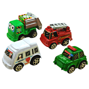 6pcs/set Mini Pull Back Car Toy Alloy Diecasts & Toy Vehicles Model Car for Kids Children Inertia Pull Back Bus Truck Trolleybus image