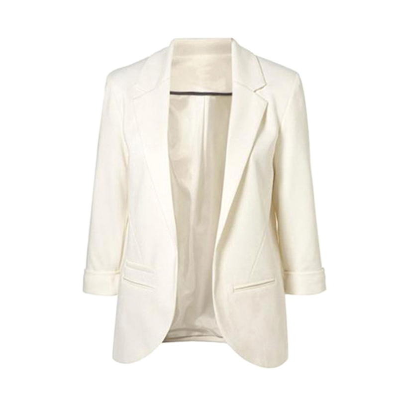 Casual Slim Suit Blazer Coat Jacket Outwear Women Candy Color No Buckle GDD99