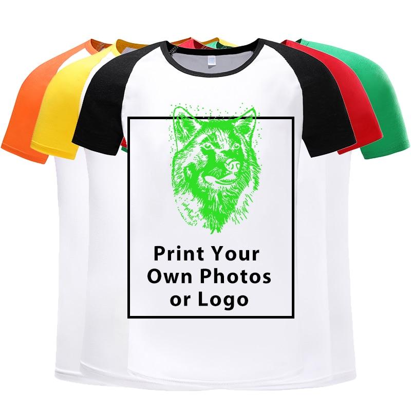 Men's T-shirt Top Fashion Short-sleeved Custom Printing Logo Photos T-shirt Mens T Shirt 2019 Cool Shirt For Men Breathable Tops