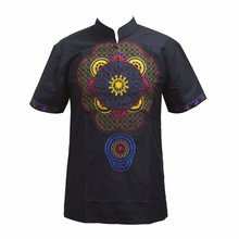 Men shirt african clothing hippie ropa hombre tribal blouse