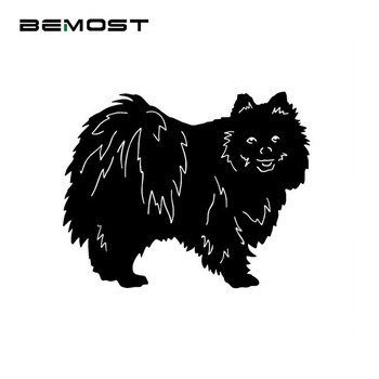 Car Stickers Pomeranian Dog Waterproof Reflective Decal Endearing Car Styling 16*12.7cm Suitable for full body Auto Accessories image
