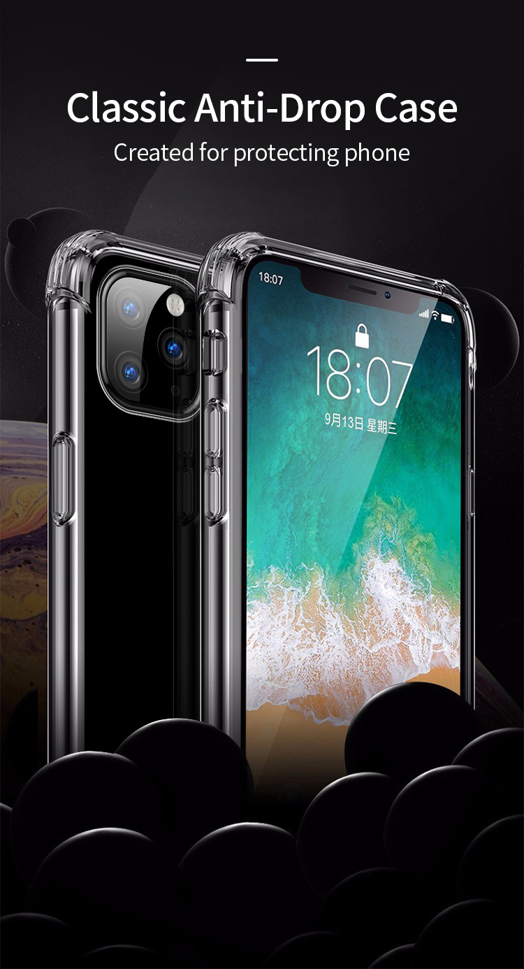 Shockproof Bumper Clear Silicone Case for iPhone 11/11 Pro/11 Pro Max 16
