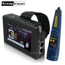 IPC-1800SN 4-дюймовый 4K H265 IP-камера тестер 8MP AHD TVI CVI CVBS CCTV тестер монитор с кабельным трассировщиком, POE,